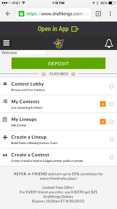 draftkings-mobile-site-home