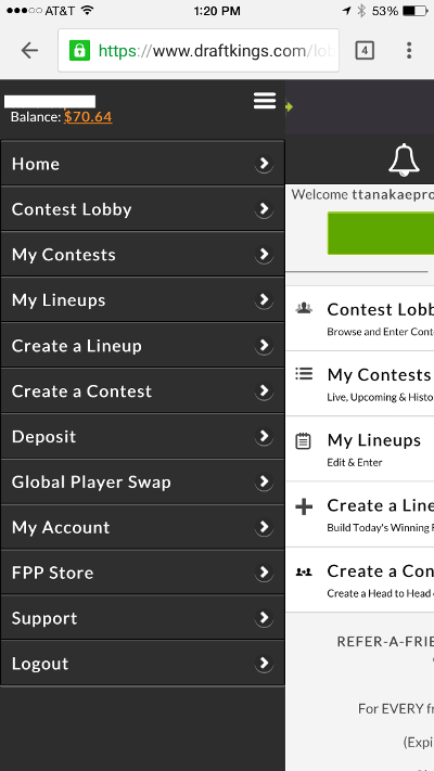 draftkings-mobile-site-menu