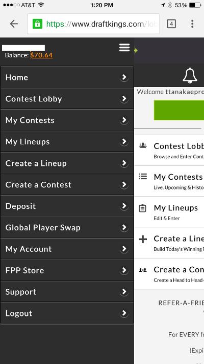 draftkings-mobile-site-menu